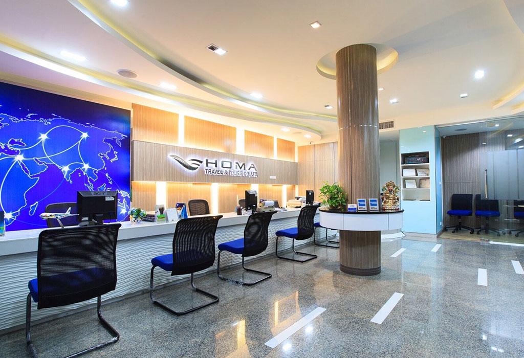 Homa tour travel oa 66 architect for Travel agency office interior design